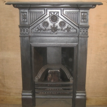 Cast Iron Bedroom Style Fireplace BFP02