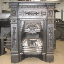 Cast Iron Bedroom Style Fireplace BFP09