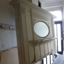 Large Wooden Fire Surround with Mirror