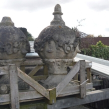 Pair Bath Stone Finials