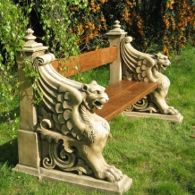 Winged Lion Bench with Commemorative Plaque